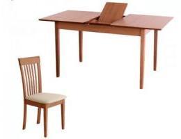 étkezőgarnitúra Elzen asztal 4 db Inn székkel