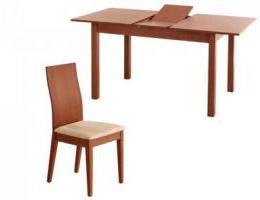 étkezőgarnitúra Alier asztal 4 db Andelle székkel